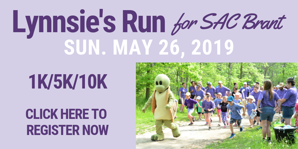 Click on this image to visit the registration page for Lynnsie's Run for SAC Brant, Sun. May 26, 2019